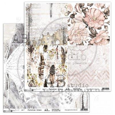 Dreamland - Paradise dream -12x12-es scrapbook papír