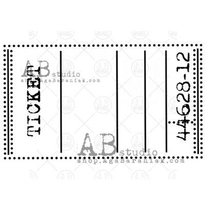 """Gumibélyegző - ID-755 """"ticket label"""""""