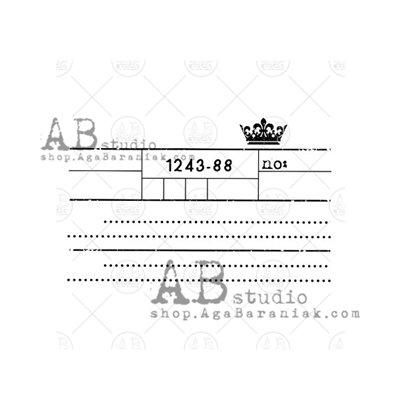 """Gumibélyegző - ID-751 """"ticket"""""""