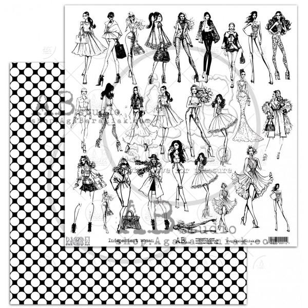 Independent woman - 12x12-es kivágóív