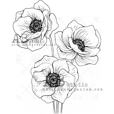 """Gumibélyegző - ID-525 """"flower"""""""