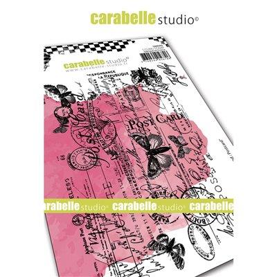 Carabelle gumibélyegző - A6 background postcard