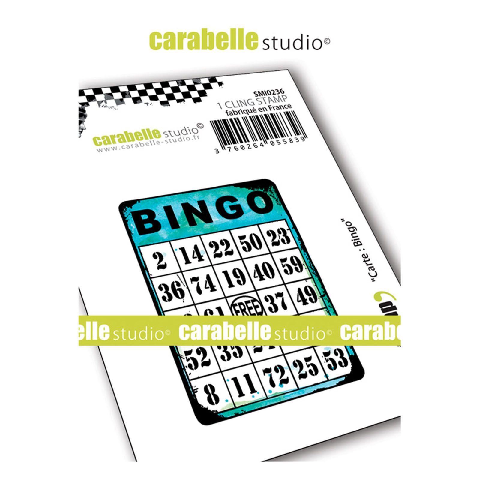 Carabelle gumibélyegző - carte bingo