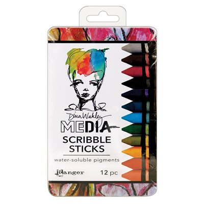 Dina Wakley Media Scribble Sticks des.2. - 12 db