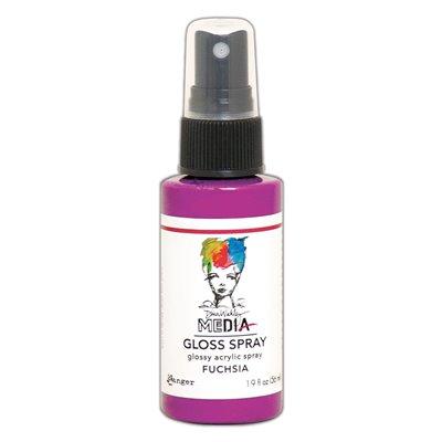 Dina Wakley Media Gloss Spray - Fuchsia