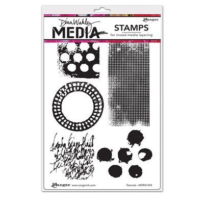 Dina Wakley Media Cling Stamp - textures