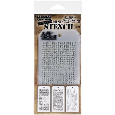 Tim Holtz Mini Stencil Set - des.48.
