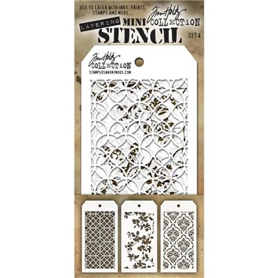 Tim Holtz Mini Stencil Set - des4.