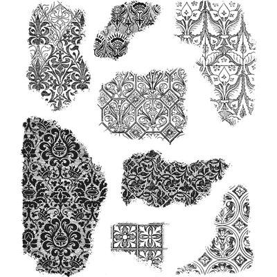 Tim Holtz Cling Stamps - Fragments - bélyegzőszett