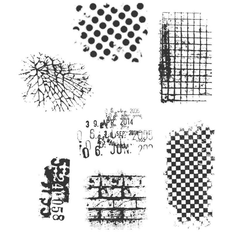 Tim Holtz Cling Stamps - Ultimate Grunge - bélyegzőszett
