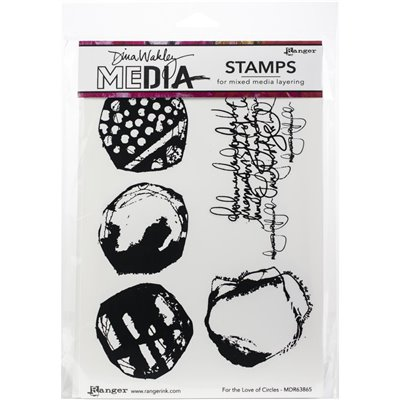 Dina Wakley Media Cling Stamp - For The Love Of Circles
