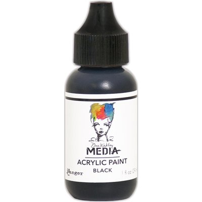 Dina Wakley Media Acrylic Paint - black