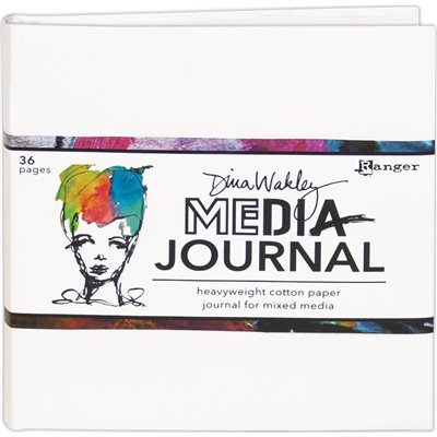 Dina Wakley Media White Journal