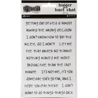 Dyan Reaveley's Dylusions Bigger Back Chat Stickers des.2