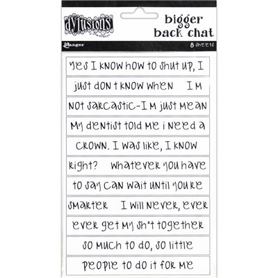 Dyan Reaveley's Dylusions Bigger Back Chat Stickers des.1