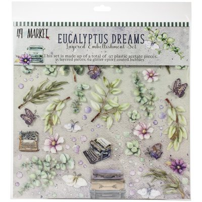 "Eucalyptus Dreams Layered Embellishments (12x12"")"