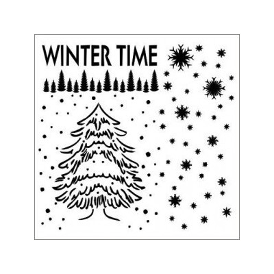 Winter Time stencil