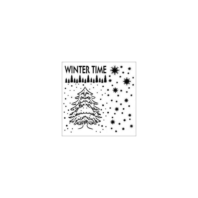 Winter Time stencil