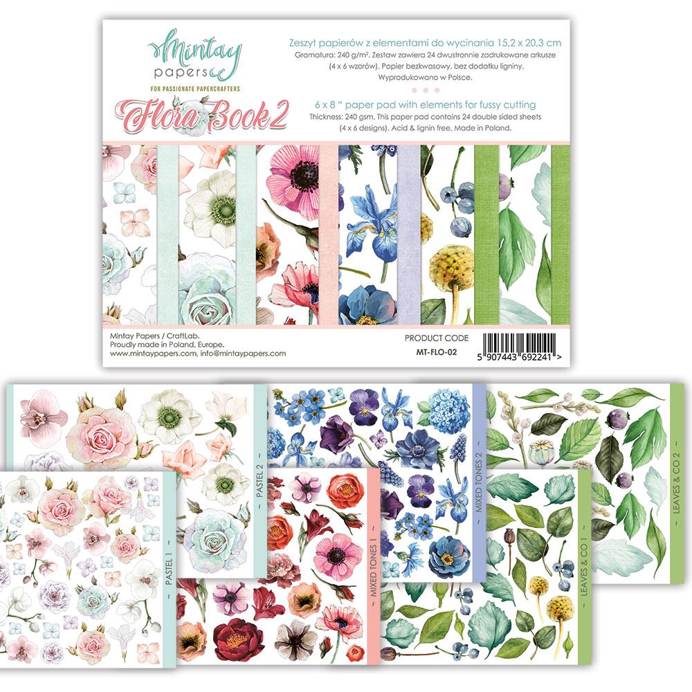 Flora Book II - kivágóív szett 6x8