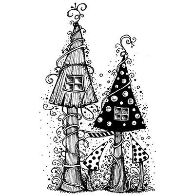 Fairy House polimer bélyegző
