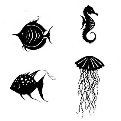 Sea Creatures polimer bélyegző