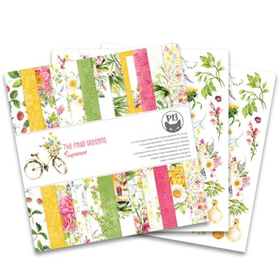 """The Four Seasons - Summer - 12""""-es mini kollekció (6 db 2 oldalas papír + 1 db kivágóív)"""