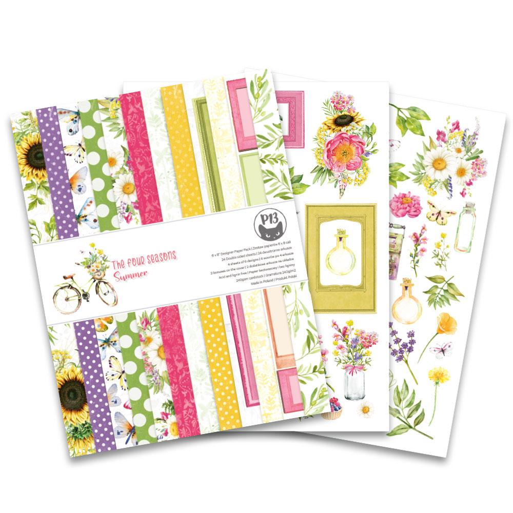 """The Four Seasons - Summer 6x8""""-es kollekció (24 db 2 oldalas papír + 2 db kivágóív)"""