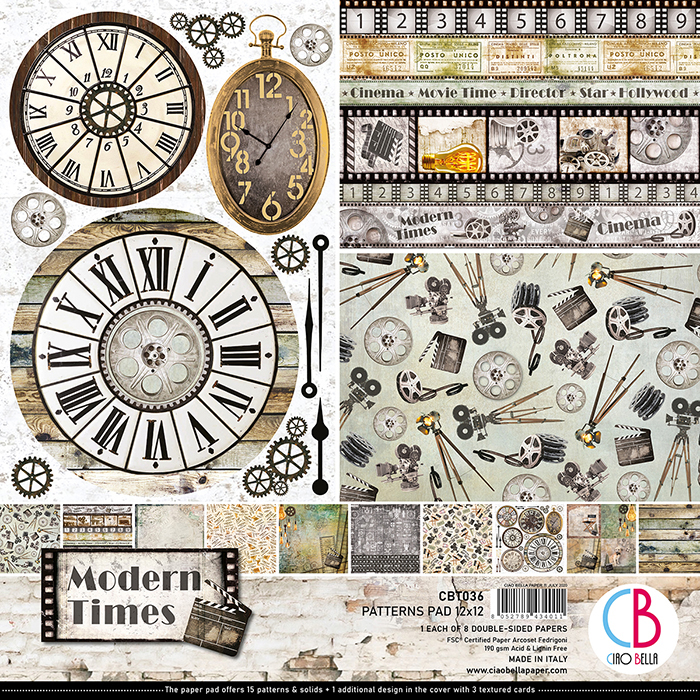 "Modern Times Patterns Pad 12""x12"""