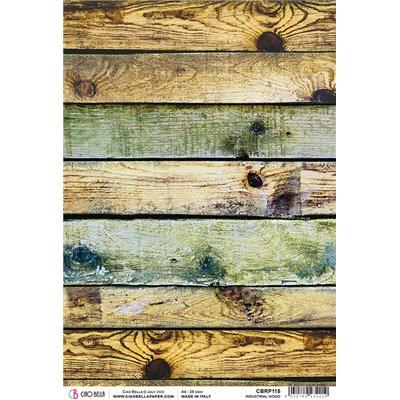 Rizspapír A4 - Industrial Wood