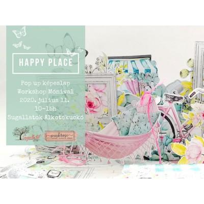 Happy Place - popup képeslap TANFOLYAM