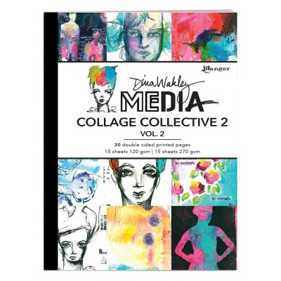 Dina Wakley Media Mixed Media Collage Collective des.2. vol.2.