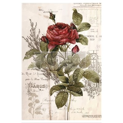 Re-Design with Prima Botanical Rose - transzferfólia