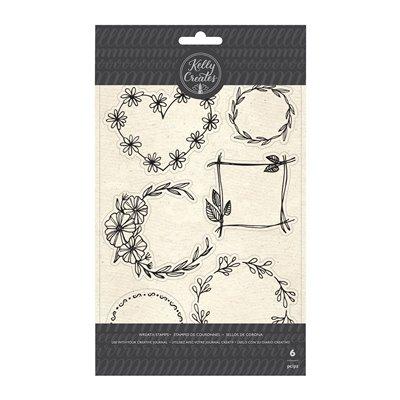 Kelly Creates - Floral Wreaths szilikonbélyegző