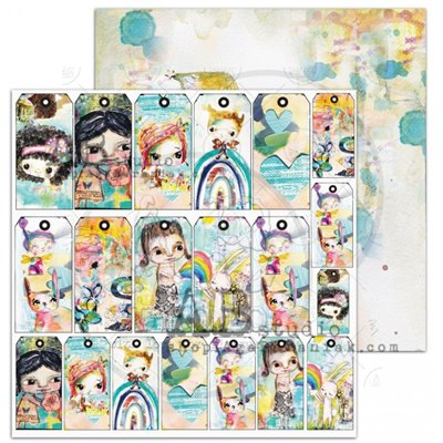 TandiArt - Shine your light Sheet 2 - Fairy and friends - 12x12-es scrapbook papír