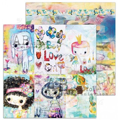TandiArt - Shine your light Sheet 6 - Colourful mood - 12x12-es scrapbook papír