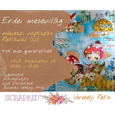 Erdei mesevilág - művészi napló TANFOLYAM gyerekeknek Rékával (12)