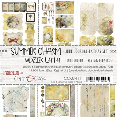 Summer Charm - Junk Journal kivágóív szett