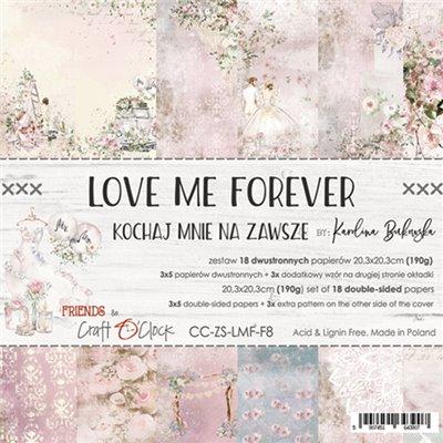 Love Me Forever - papírkészlet 20,3x20,3cm