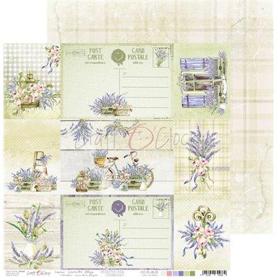 Lavender Bliss - kivágóív kártyák