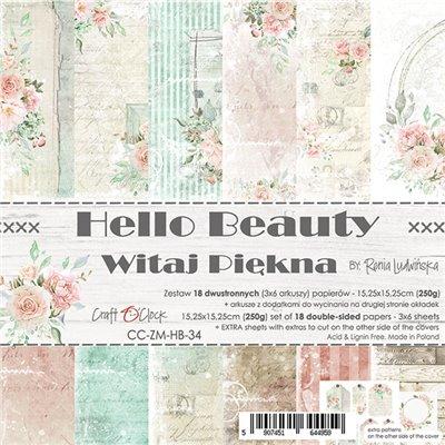 Hello Beauty - papírkészlet 15,25x15,25cm