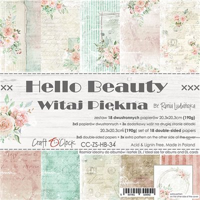 Hello Beauty - papírkészlet 20,3x20,3cm