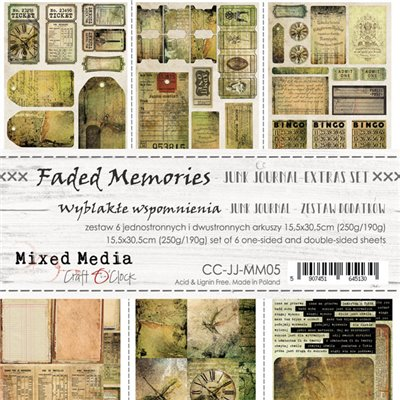 Faded Memories - Junk Journal kivágóív szett