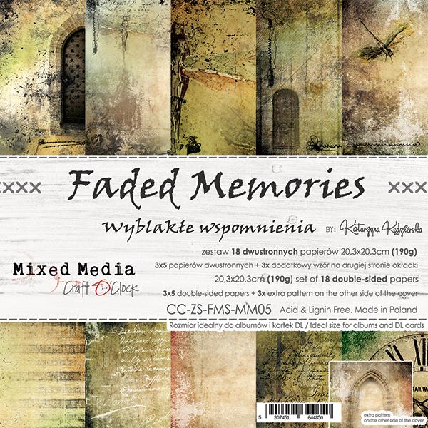Faded Memories - papírkészlet 20,3x20,3cm