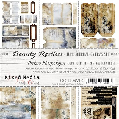 Beauty Restless - Junk Journal kivágóív szett