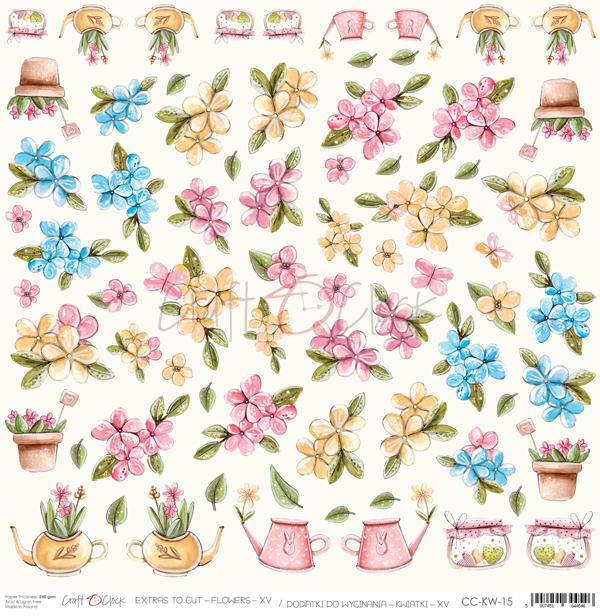 Flowers - XV kivágóív