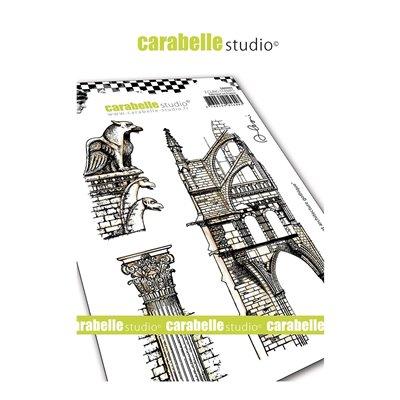 Carabelle gumibélyegző - A6 Gargouille et architecture