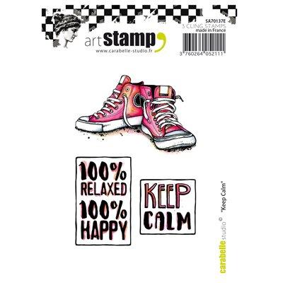Carabelle gumibélyegző - A6 Keep calm
