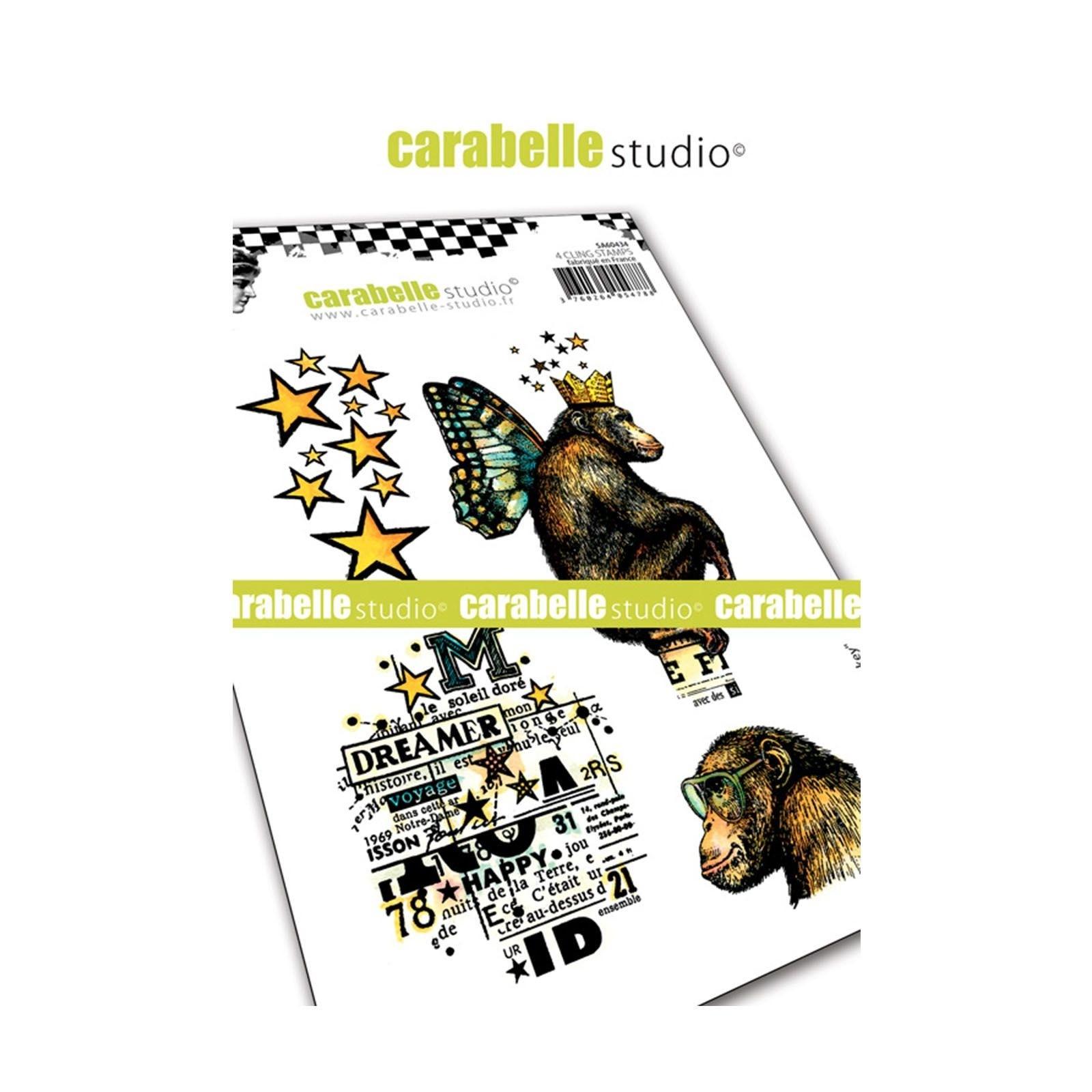 Carabelle gumibélyegző - A6 Monkey