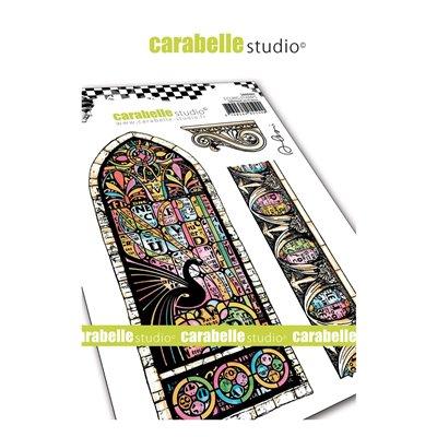 Carabelle gumibélyegző - A6 Vitrail