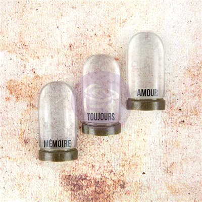 Memory Hardware Embellishments - Amiens Antique Cloches, Metal & Resin (3db)